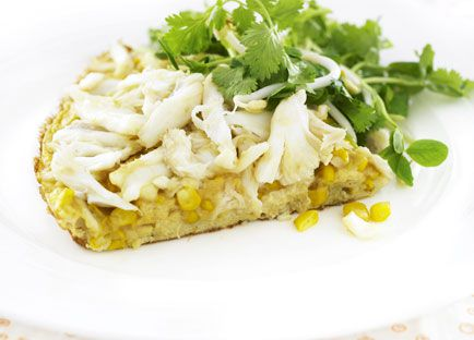 Crab and corn omelette