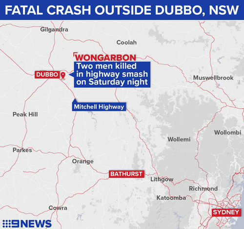 Two men died at the scene of the crash on Saturday night.