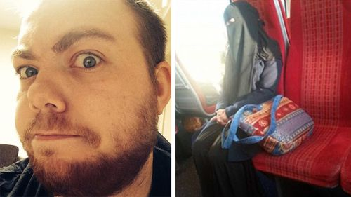 English train passenger sits with Muslim woman to show solidarity