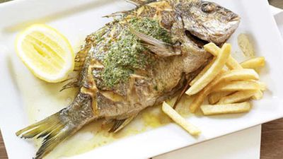 "<a href=""http://kitchen.nine.com.au/2016/05/17/14/23/whole-sea-bream-with-herb-butter"" target=""_top"">Whole sea bream with herb butter</a> recipe"