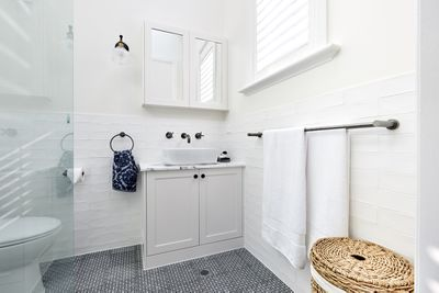 """""""The level of taste in this ensuite is really something,"""" said Neale."""