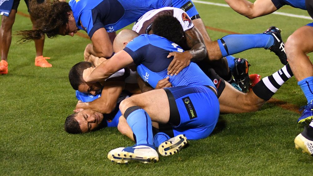 Rugby League World Cup: Jarryd Hayne sent to the sin bin against Italy for fighting