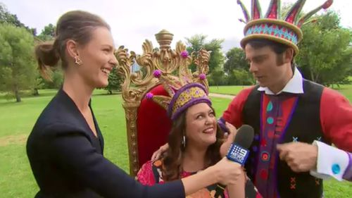 The pair told 9NEWS they were looking forward to taking on the role of Monarchs for the festival. (9NEWS)