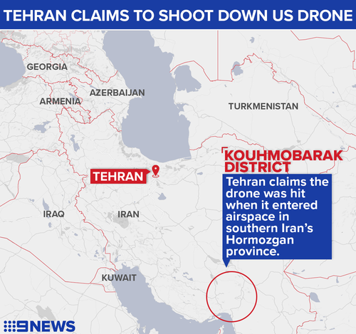 'Have shot down United States drone over our territory,' says Iran
