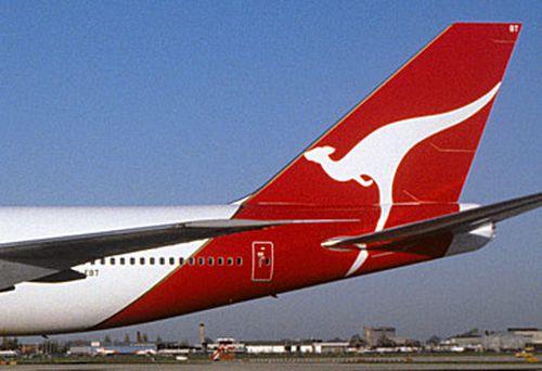 Qantas 747 in London (Getty)