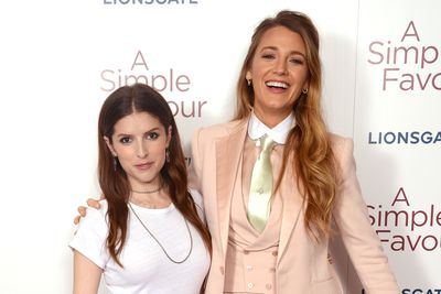 Blake Lively and Anna Kendrick attend the UK premiere of 'A Simple Favour', September 17. Images: Getty