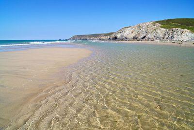 Porthtowan beach in Cornwall