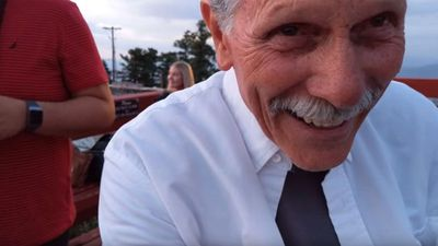 Grandfather filming marriage proposal accidentally records his own reaction