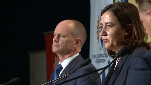 """Palaszczuk insisted Labor will not be """"arrogant and combative"""" like the LNP. (9NEWS)"""