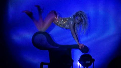 Pole-dancing and lounge-grinding! Beyonce recreates saucy 'Partition' video live