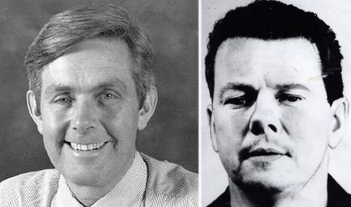 Donald Mackay, (left), and James Bazley, one of three men convicted of conspiring to murder him. (Photo: AAP).