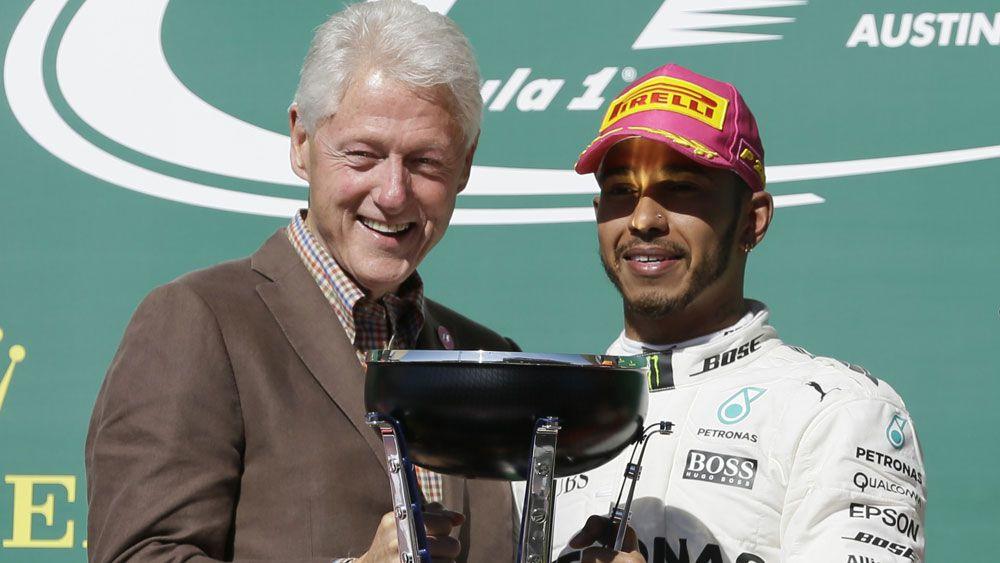 Bill Clinton and Lewis Hamilton.