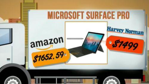 Harvey Norman's prices beat the e-retailer.
