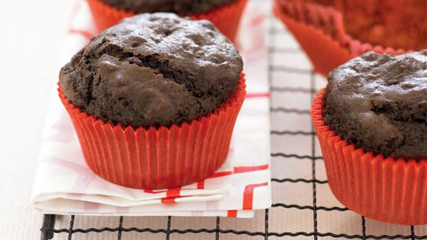 Chocolate museli muffins