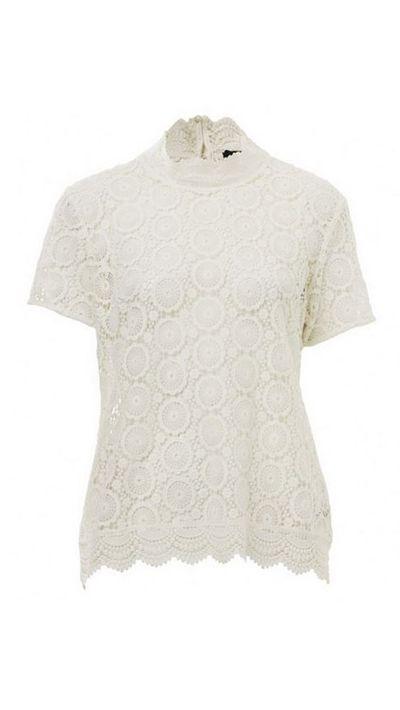 """<a href=""""http://www.sportsgirl.com.au/clothing/mock-lace-tee-cream"""">Mock Lace Tee, $99.95, Sportsgirl</a>"""