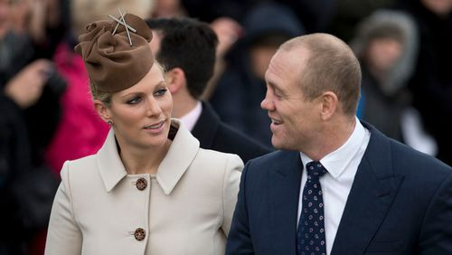 Zara Phillips and her husband Mike Tindall as they arrive for the British royal family's traditional Christmas Day church service in 2012. (AAP)