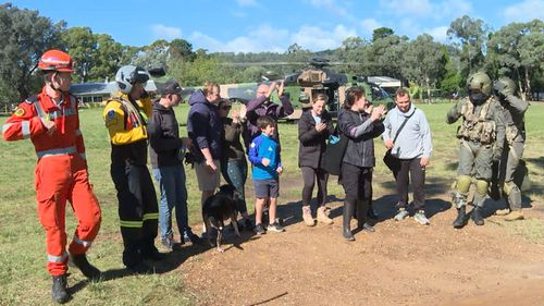 Nine stranded campers and a pet dog have been rescued from the Wollondilly Forest. NSW Floods