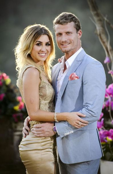 Alex Nation and Richie Strahan on The Bachelor Australia.