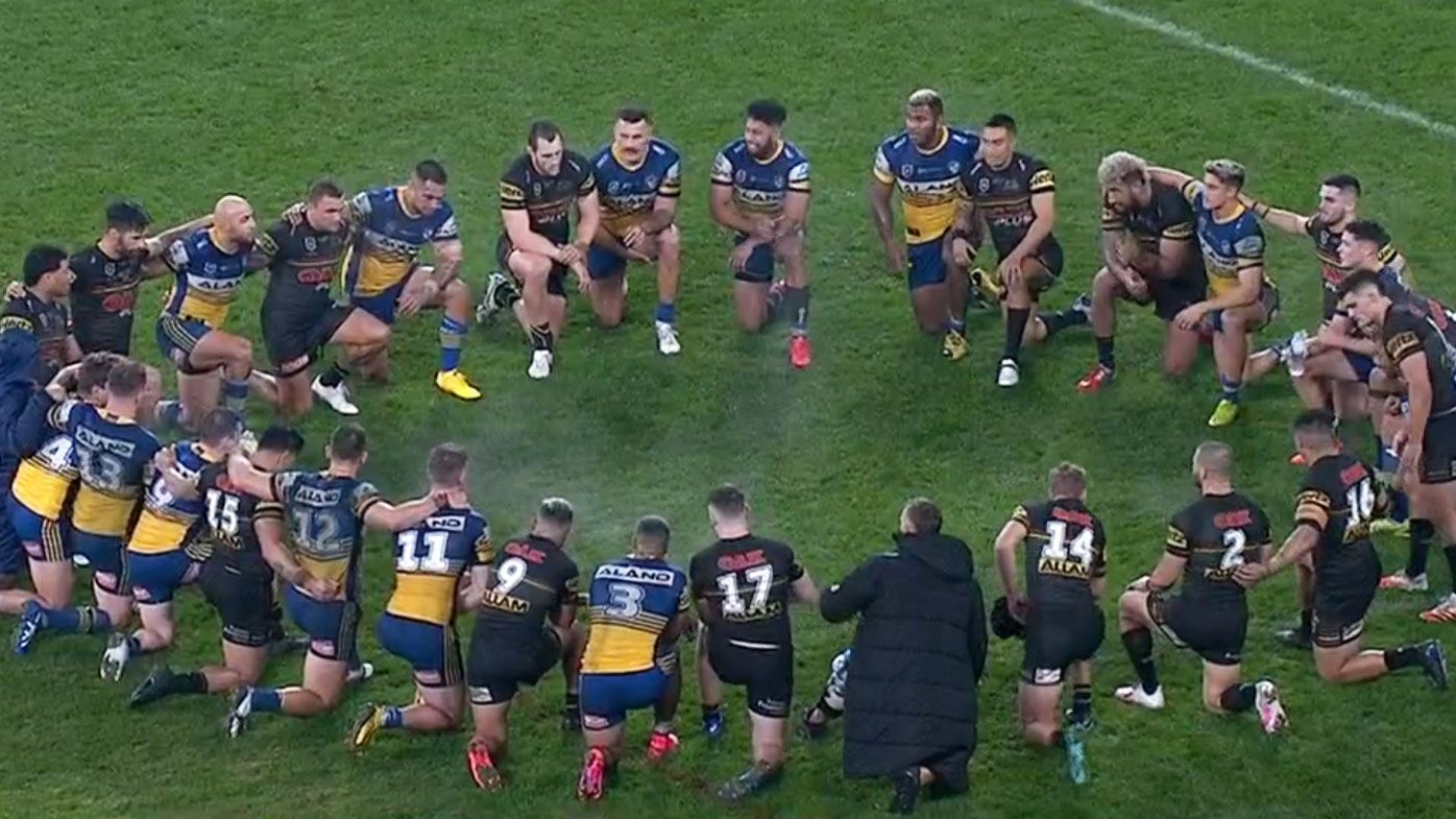 Eels and Panthers take a knee