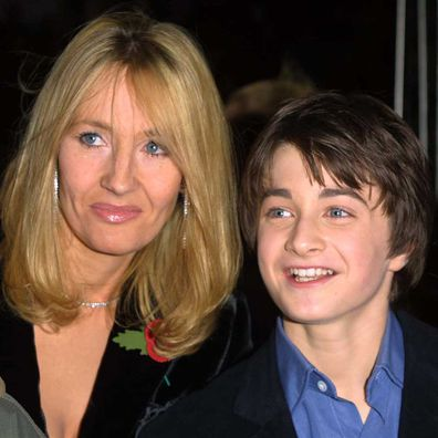 J.K. Rowling and Daniel Radcliffe.