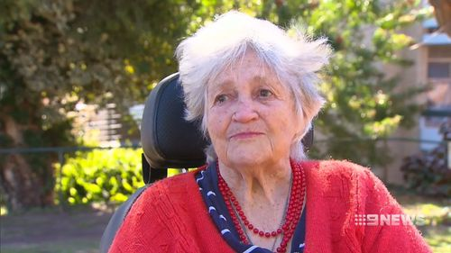 """Mrs Farnworth says polio """"wrecked her life"""". Picture: 9NEWS"""