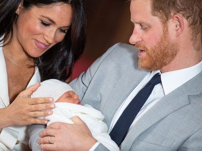 Baby Sussex first photo call