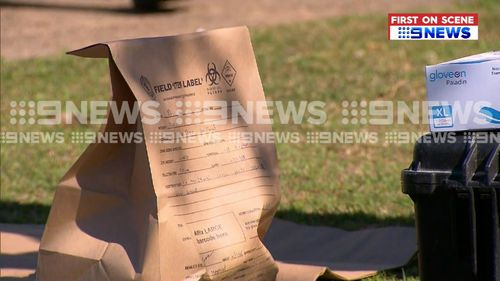 A number of items were taken from the properties raided by police this morning.