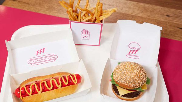 Anna Polyviou's Family Food Fight hot dog, burger and fries dessert