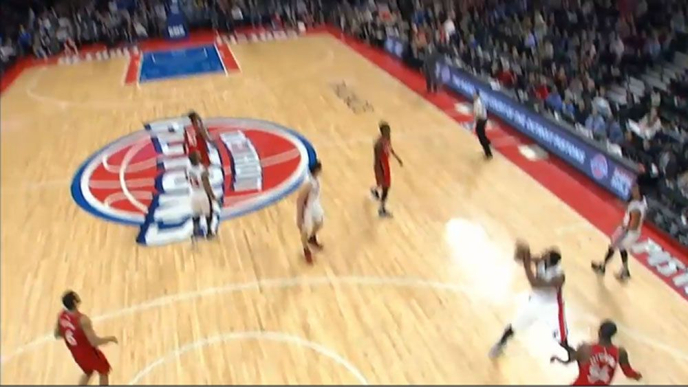 Detroit star sinks full court buzzer beater