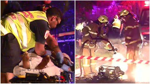 Hero neighbours alert fire crews to unconscious man inside burning Melbourne home