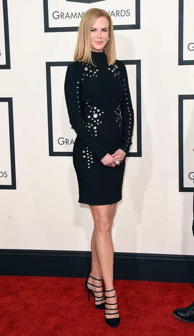 <p>Nicole Kidman in Thierry Mugler at the 2015 Grammy Awards</p> <p> </p>