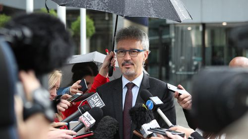 Josh Bornstein of Maurice Blackburn lawyers, speaks to media after leaving the Federal Court in Melbourne. (AAP)