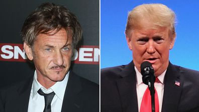 Sean Penn, Donald Trump, US election 2020