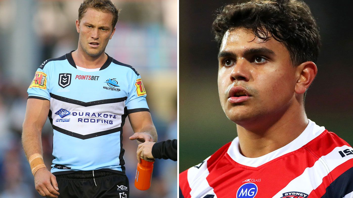 Matt Moylan and Latrell Mitchell