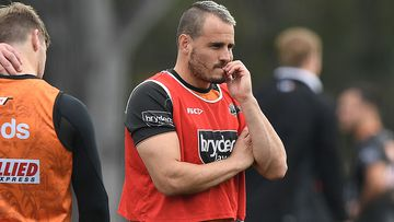 Josh Reynolds during a Wests Tigers NRL training session