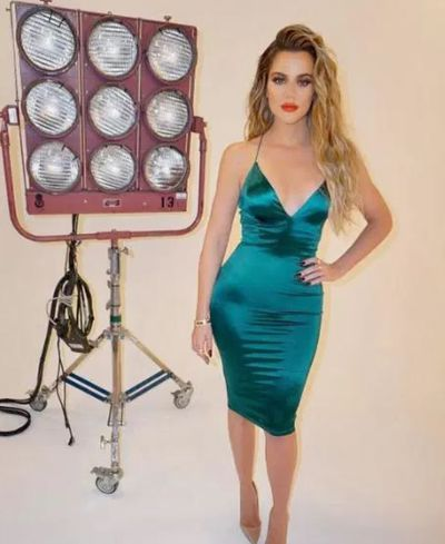 Reality TV star Khloe Kardashian on set for a photo shoot in March, 2017