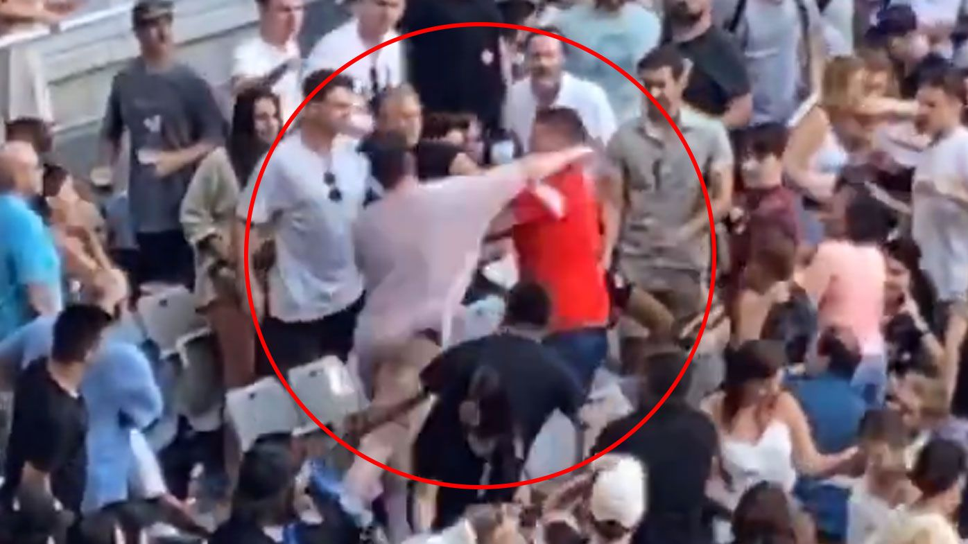 Fans brawl ahead of Kyrgios match