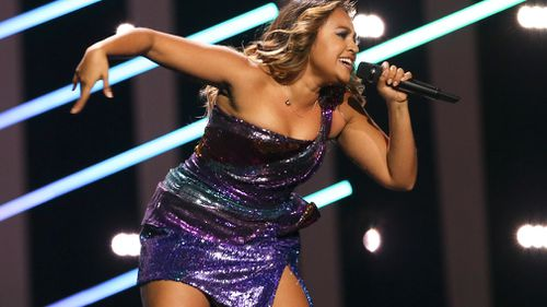 Jessica Mouboy performed her song 'We Got Love'. (AAP)