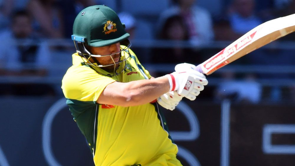 Aaron Finch is thrilled after being named Australia's T20 captain again. (AAP)