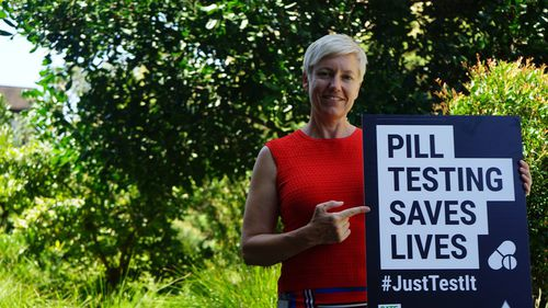 Cate Faehrman admitted today that she has taken drugs but said the pill-testing debate needed to be honest.