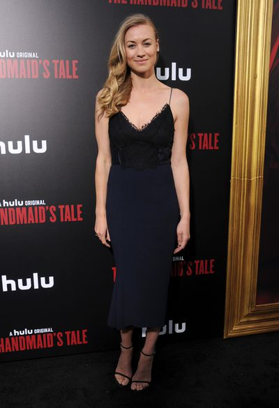 <p>Yvonne Strahovski&nbsp; at the premiere of <em>The Handmaid's Tale</em>&nbsp;in Hollywood, April 2017</p>