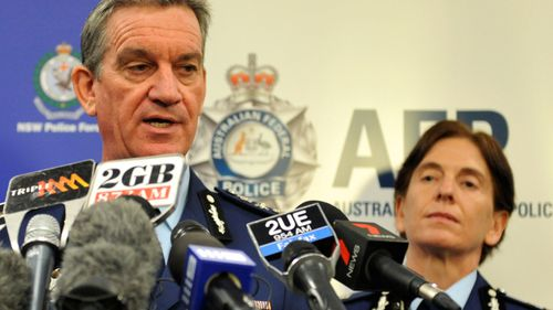 Andrew Scipione and Catherine Burn. (AAP)