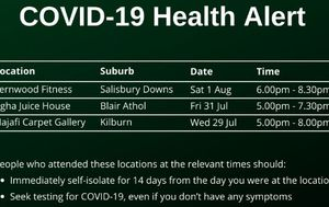 Emergency health alert in Adelaide following two new cases of COVID-19