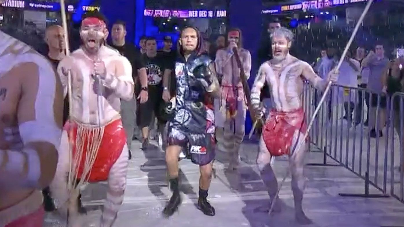 'How good is this:' Paul Fleming walks to the ring with Indigenous-inspired entrance