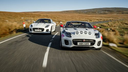 Jaguar has unveiled two rally-ready versions of its F-Type Convertible.