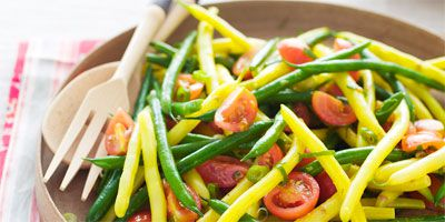 Green & yellow bean salad