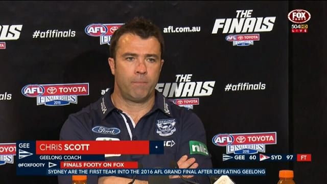 Cats coach Chris Scott speaks some home truths after his side's loss to the Sydney Swans