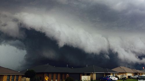 The storm front rolled over Orange yesterday. (Heidi Gutry/Supplied)