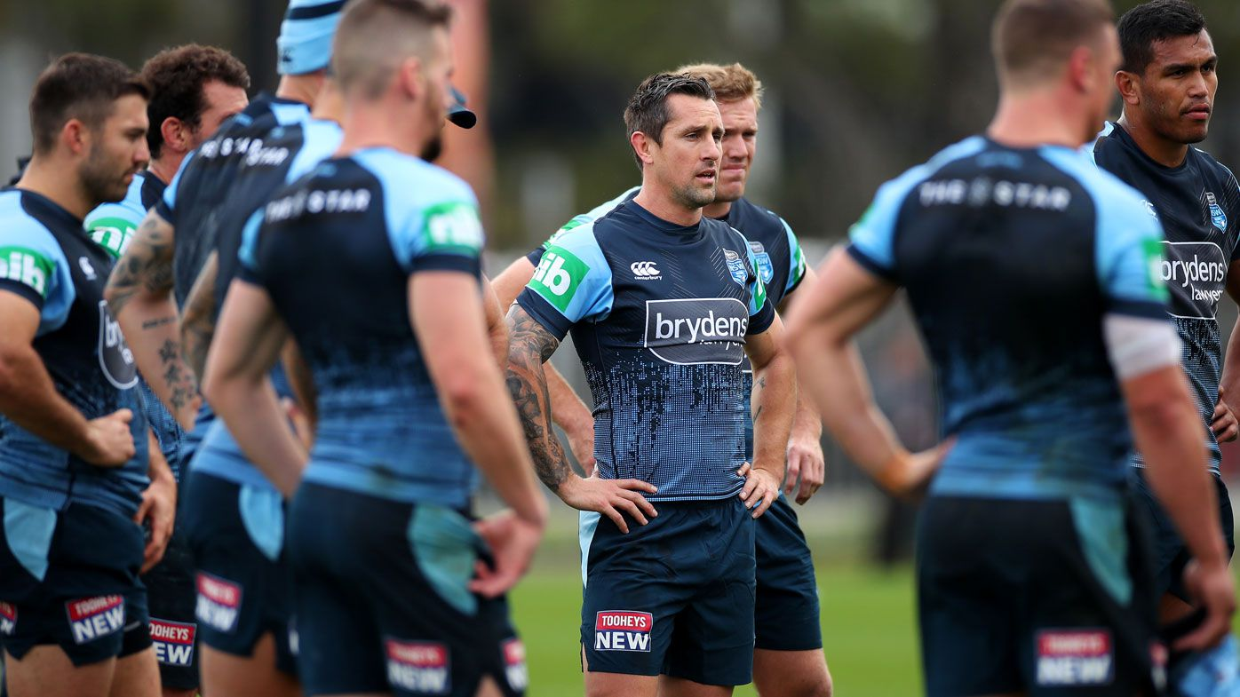 NSW Blues in Origin training ahead of Game III 2019. (Getty)