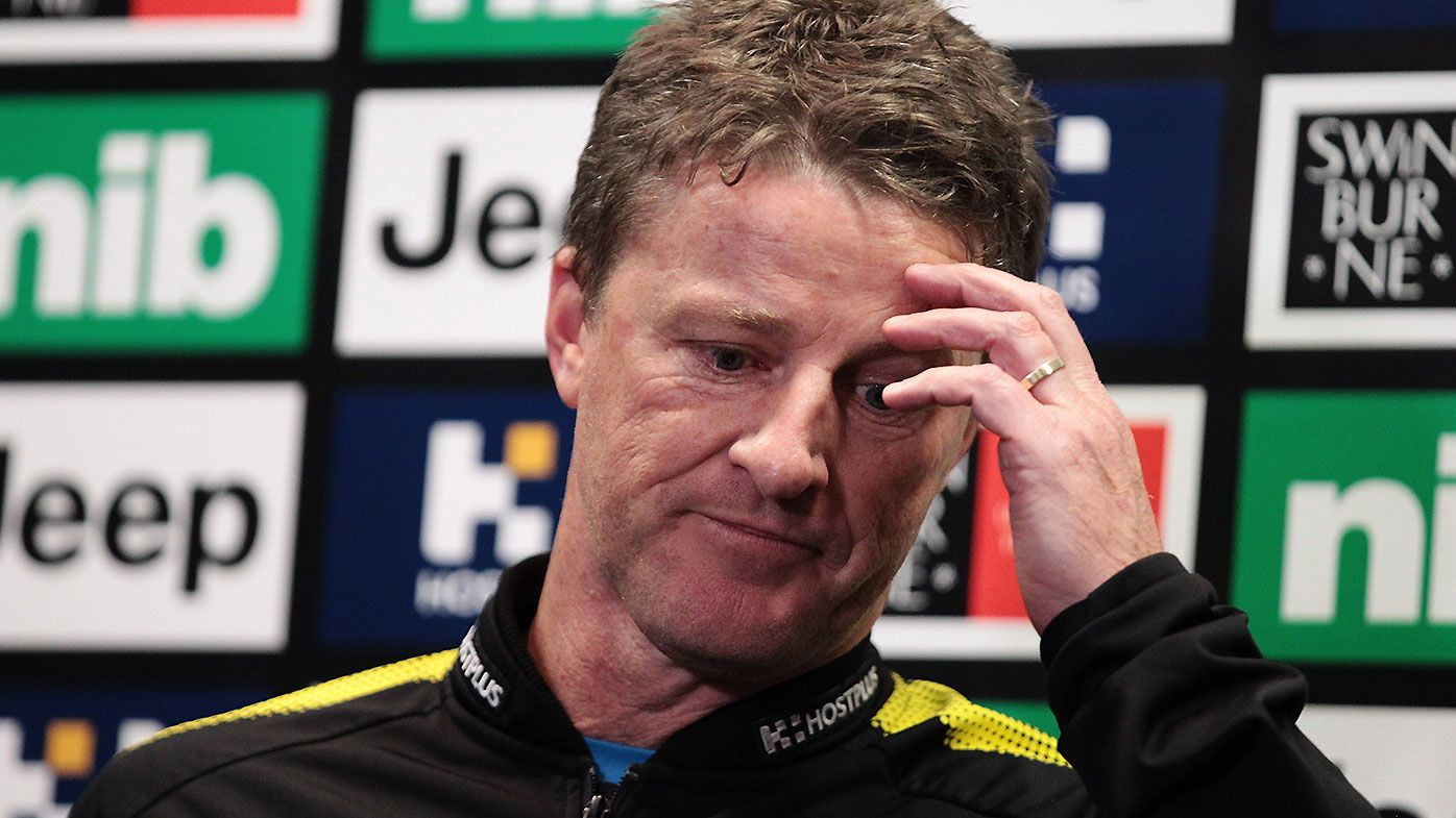 Damien Hardwick 'disappointed' at players involved in Richmond groping controversy